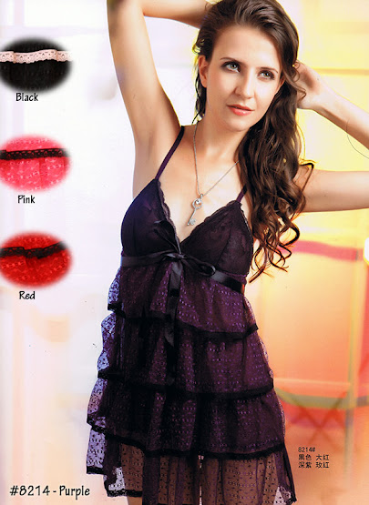 8214 : Colour Available : BLACK only, Free Size (Size Fits Most S, M & L) with G-String RM 49 EACH