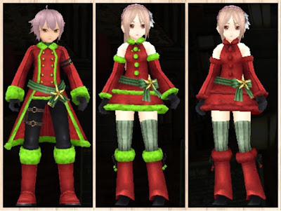 サンタ衣装 蛍光緑3、赤3