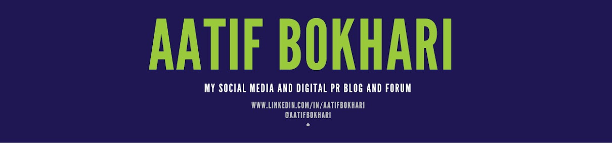 Aatif's social media and PR blog