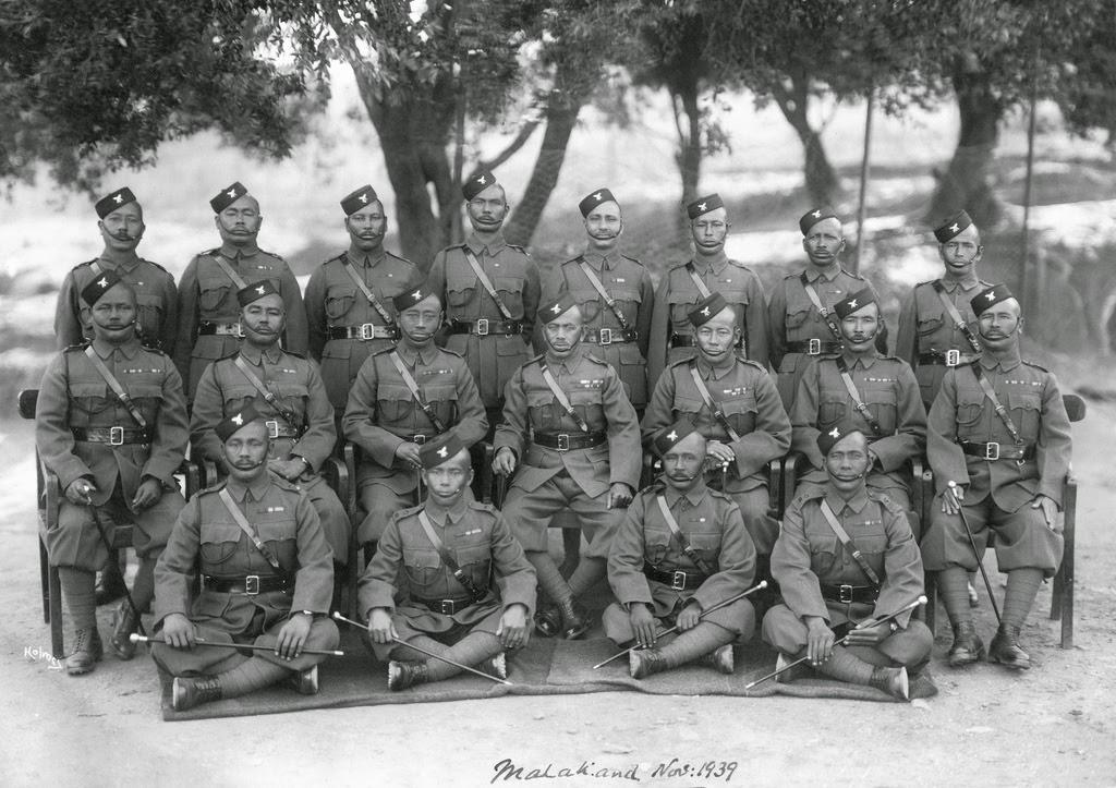 1st Battalion Gurkha Officers Malakand 1939 - seated centre Honorary Lieutenant & Subedar Major Maniraj Gurung OBI Sirdar Bahadur