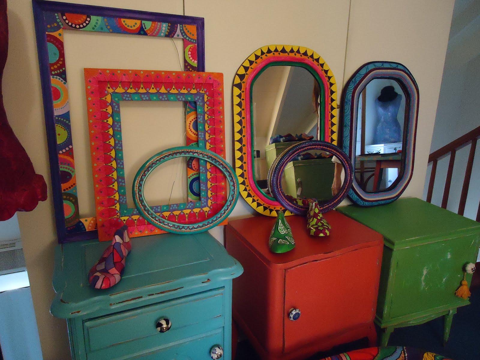 Vintouch muebles reciclados pintados a mano marcos - Disenos muebles pintados ...