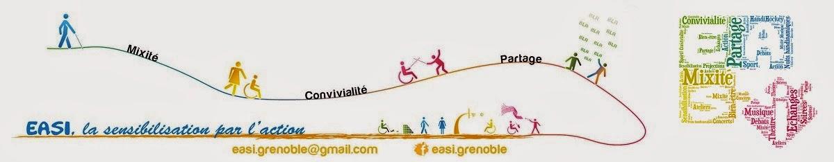 <center>EASI grenoble : Mixité (handicapés/valides), convivialité, partage    </center>