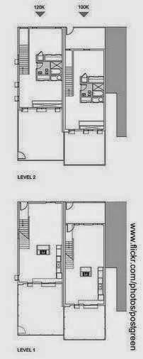 Plano de arquitectura plantas de dos casas