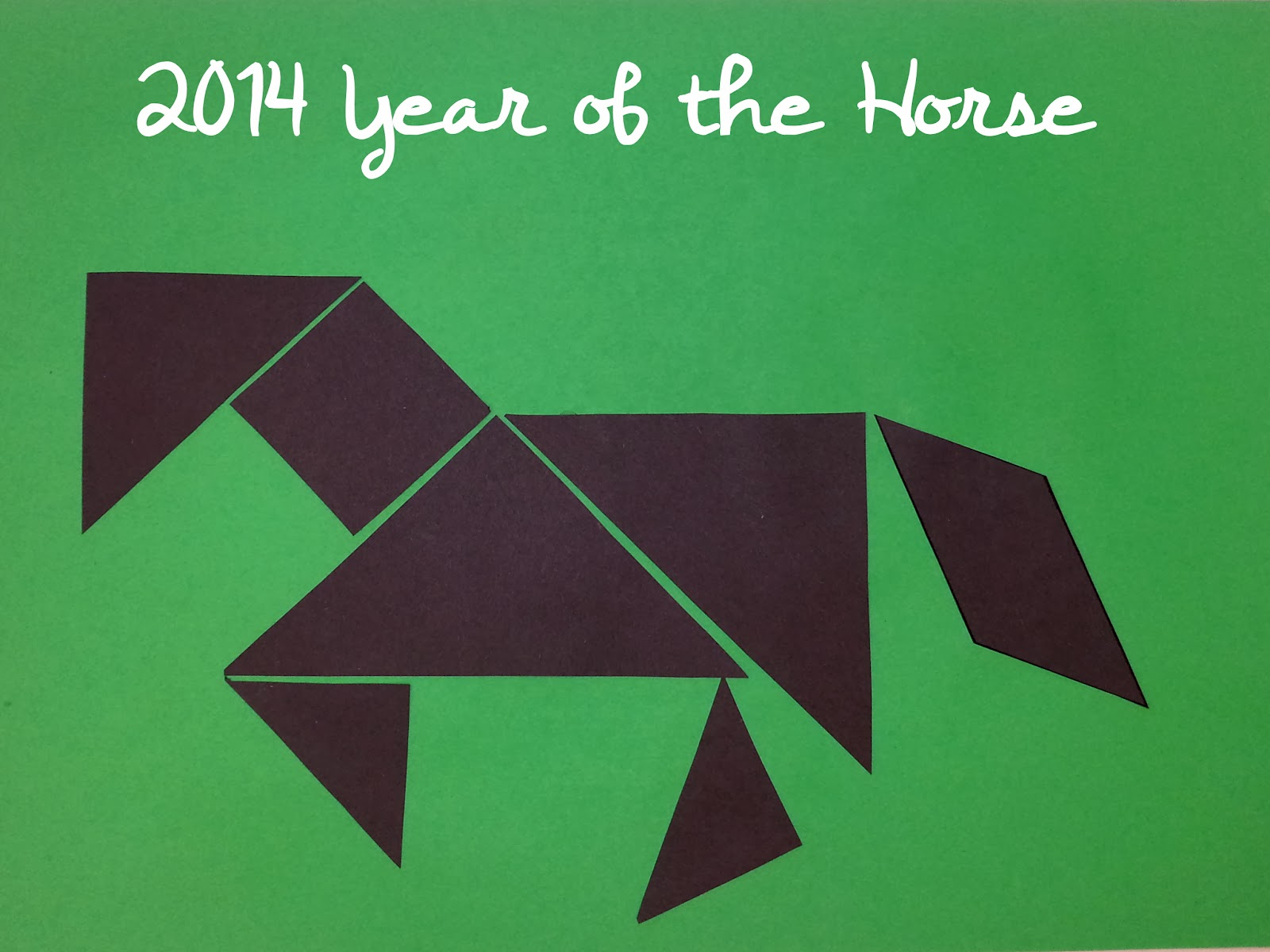 horse crafts for kids chinese new year crafts for kids tangrams horse tangram - Chinese New Year 1966