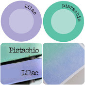 Pistache groen/lila