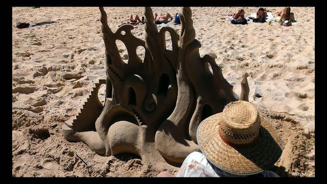 chateau de sable street art plage Noosa beach Australie queensland, visiter astralie Noosa sunshine cost