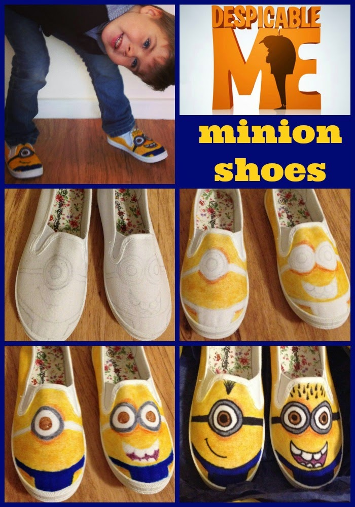 where s my glow how to make minion canvas shoes
