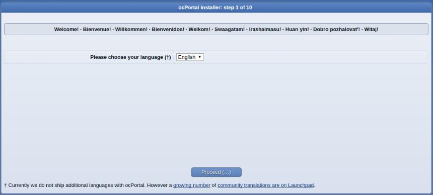install ocportal step 1