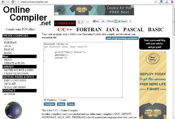 Teachers online compilers the top 5 websites to write Online c compiler and run with input
