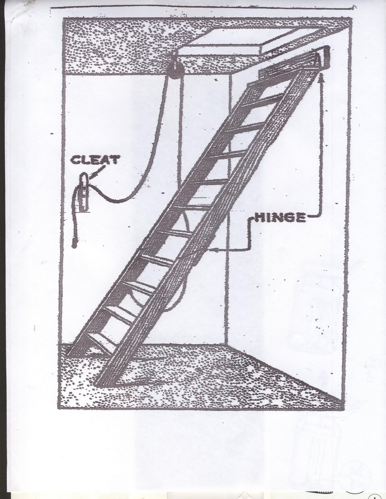 Vintage Plans Free Plans Make Folding Attic Ladders