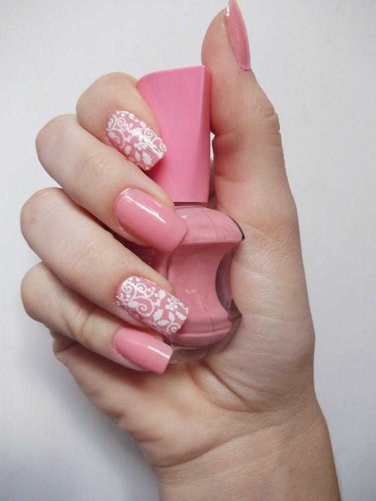 Eu vou de esmalte unha com esmalte rosa pelicula de renda for Decor unhas