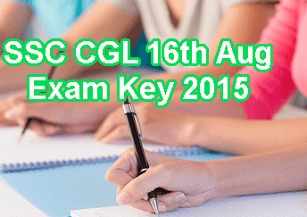 SSC CGL 16th August 2015 Answer Key Part A, B, C, D. Staff Selection Commission CGL Exam Question Paper 16th Aug 2015, SSC CGL Tier 1 Solution Paper Morning Shift, Evening Shift. SSC CGL Exam Key 16-08-2015 Question Paper Download at ssc.nic.in. SSC CGL Tier 1 Solved Key 2015