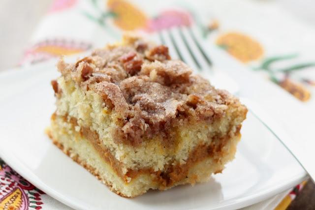 Pumpkin Coffee Cake recipe by Barefeet In The Kitchen