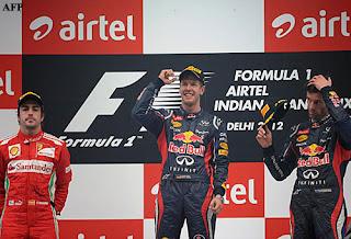 FÓRMULA 1-Vettel defiende su pole y Alonso escaló posiciones como loco