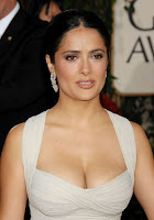 hot, sexy, Salma, Hayek, curvy, body, deep, cleavage, show