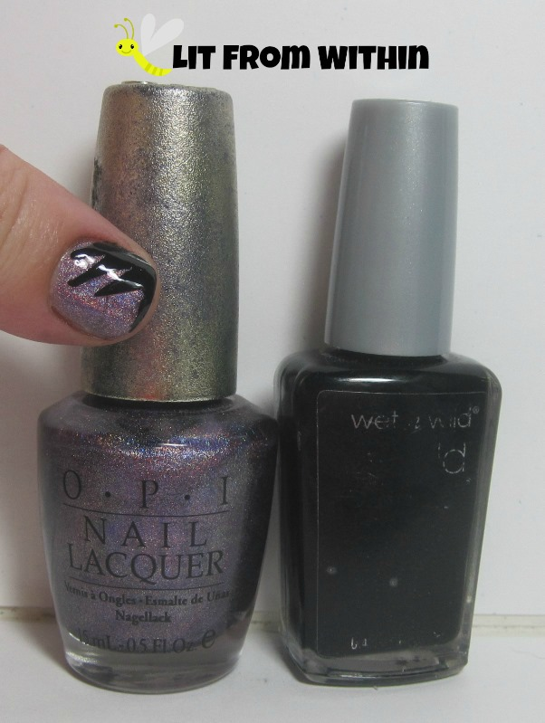 Bottle shot:   OPI DS Original, and Wet 'n Wild Black Creme.