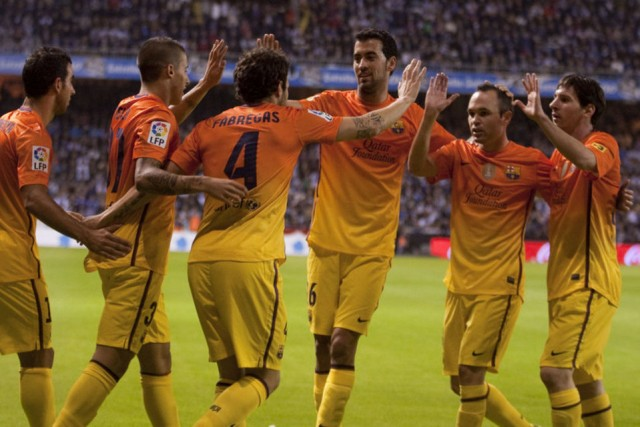 Hasil Pertandingan Deportivo vs Barcelona 4-5, 21 Oktober 2012