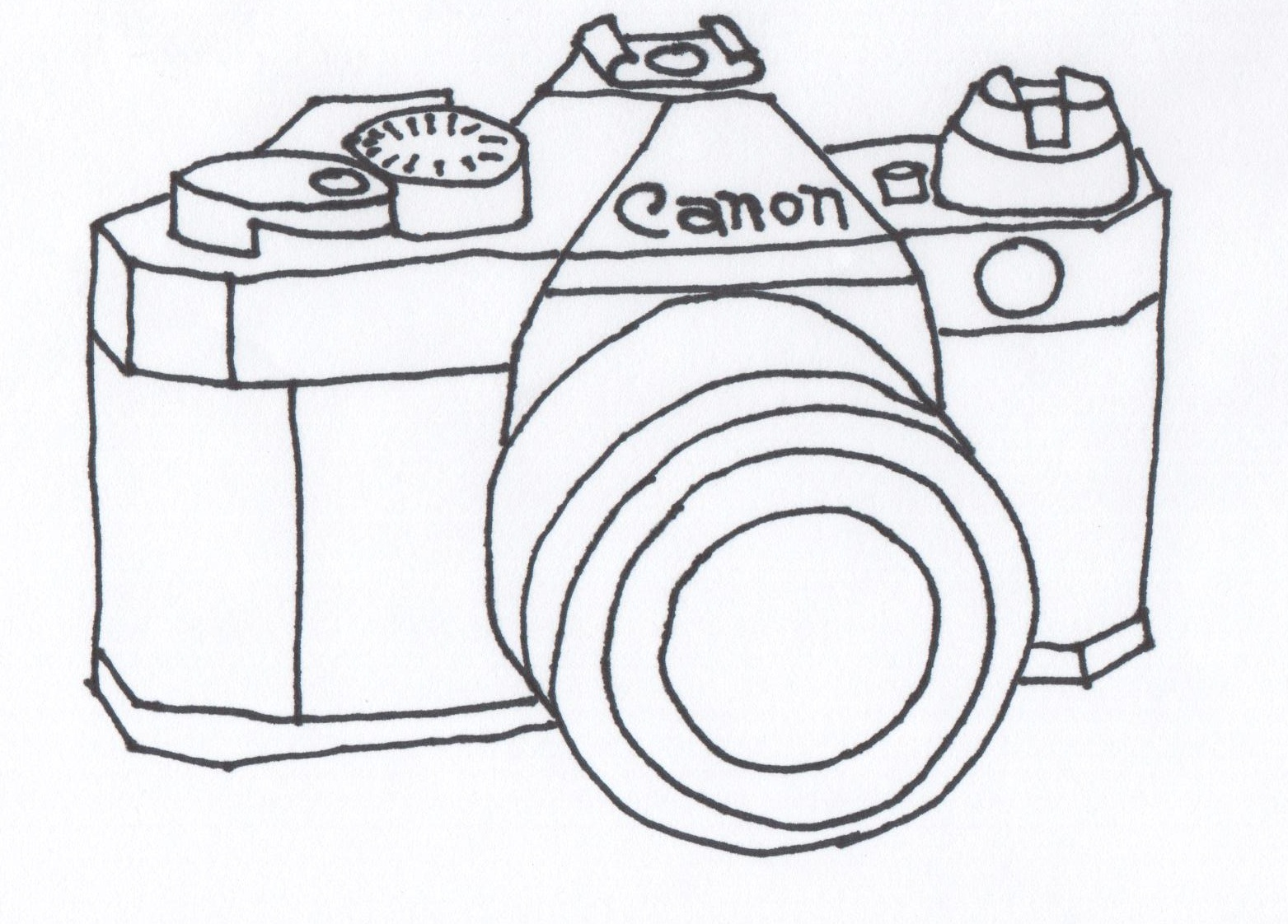 coloring pages to print camera - photo#35