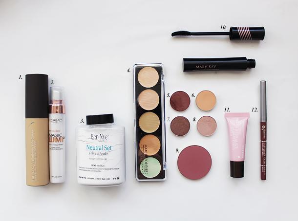 rose mauve makeup look using mac coastal scents mug