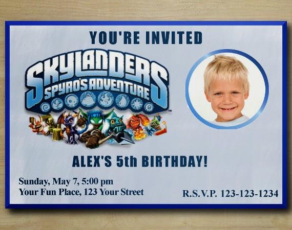 Custom birthday party invitations skylanders birthday party skylanders birthday party invitation 04 filmwisefo