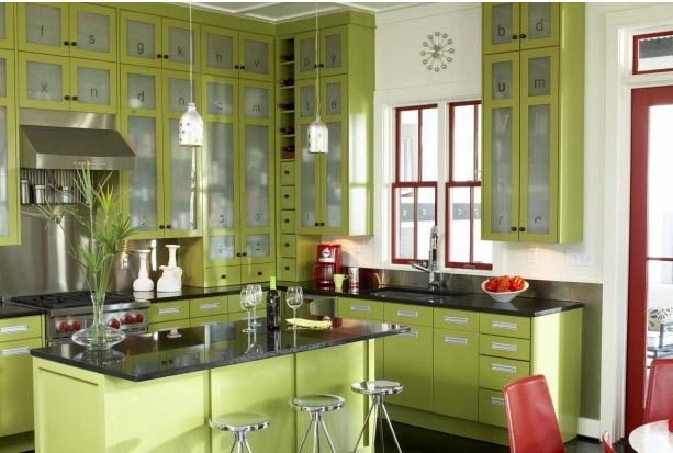 Perfect Green Kitchen Cabinets 613 x 413 · 52 kB · jpeg