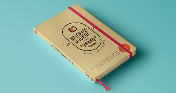 Download Gratis Mockup Majalah, Brosur, Buku, Cover - Classic Psd Notebook Mockup Vol2