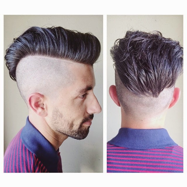 bald fade pompadour hairstyle ideas