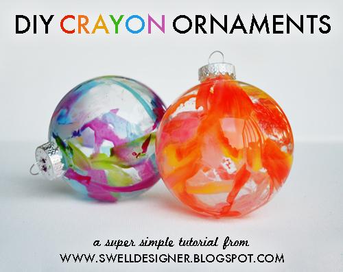 Diy crayon drip holiday ornaments solutioingenieria Gallery