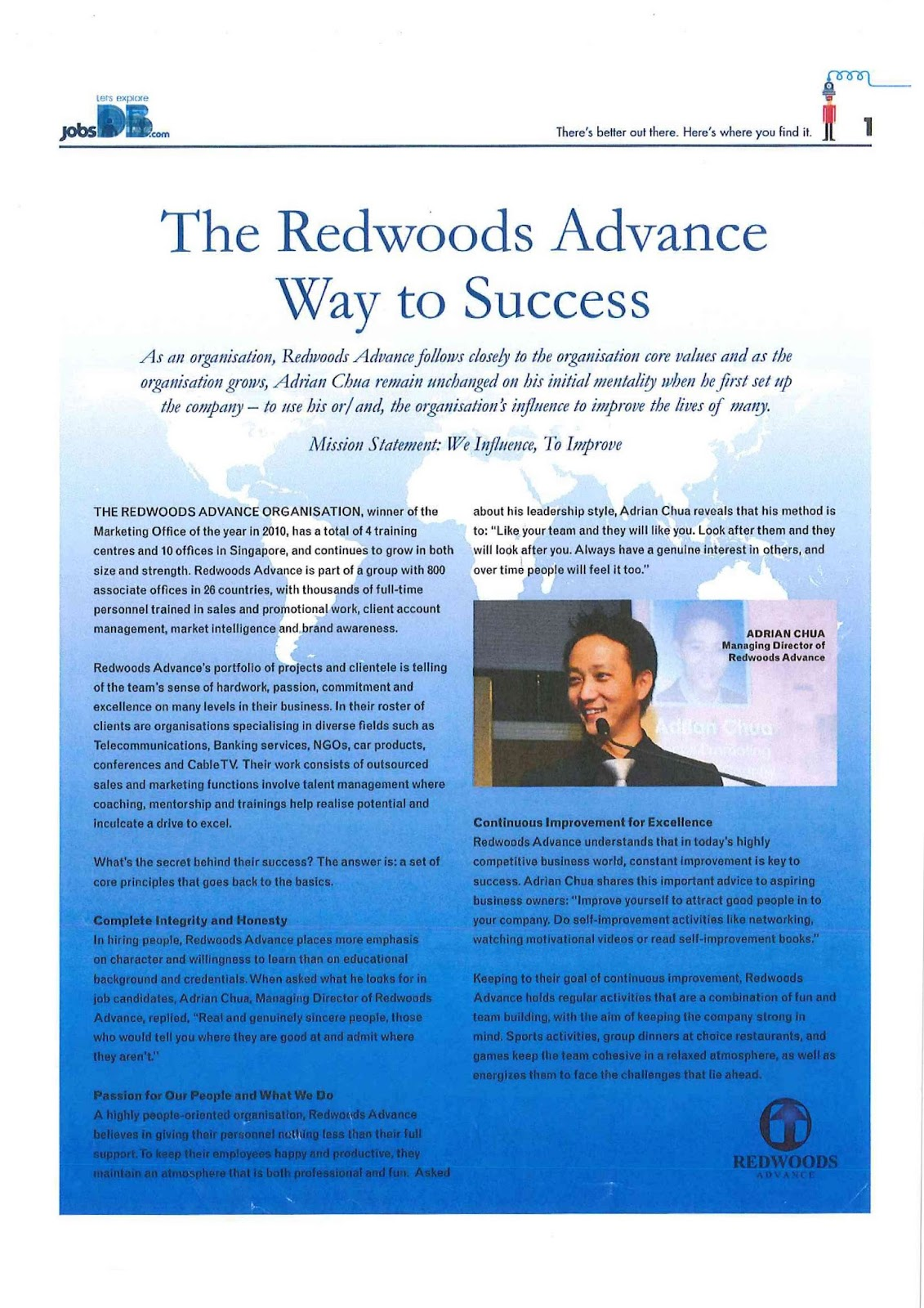Redwoods Advance - Way to Success