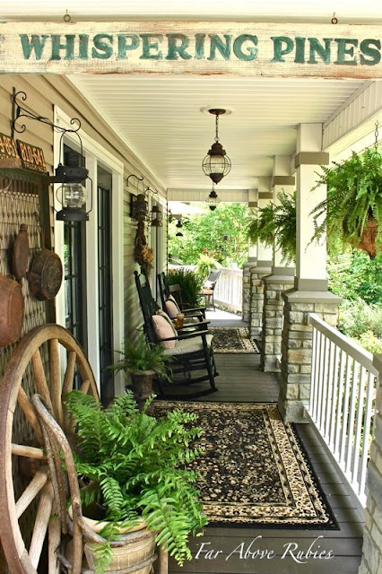 Far above rubies vintage southern front porch and a for Southern front porches