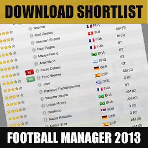 Download Shortlist for FM13