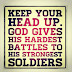 Keep your head up ...