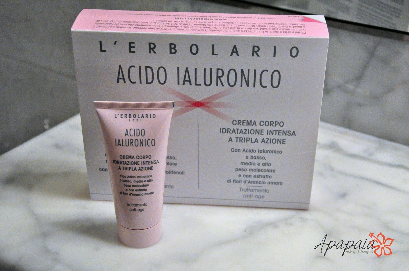 acido ialuronico crema corpo erbolario