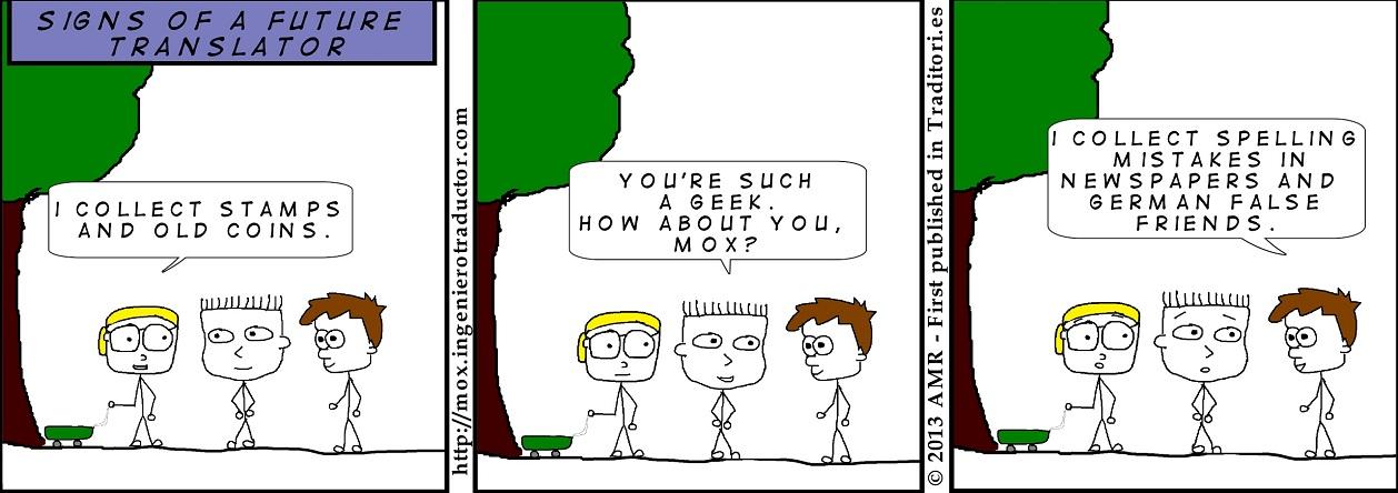 cartoon geek child translator