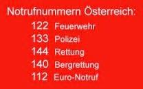 Notrufnummern Österreich
