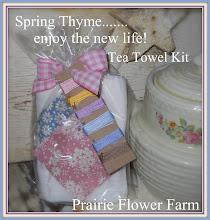 Spring Thyme Tea Towel Kit