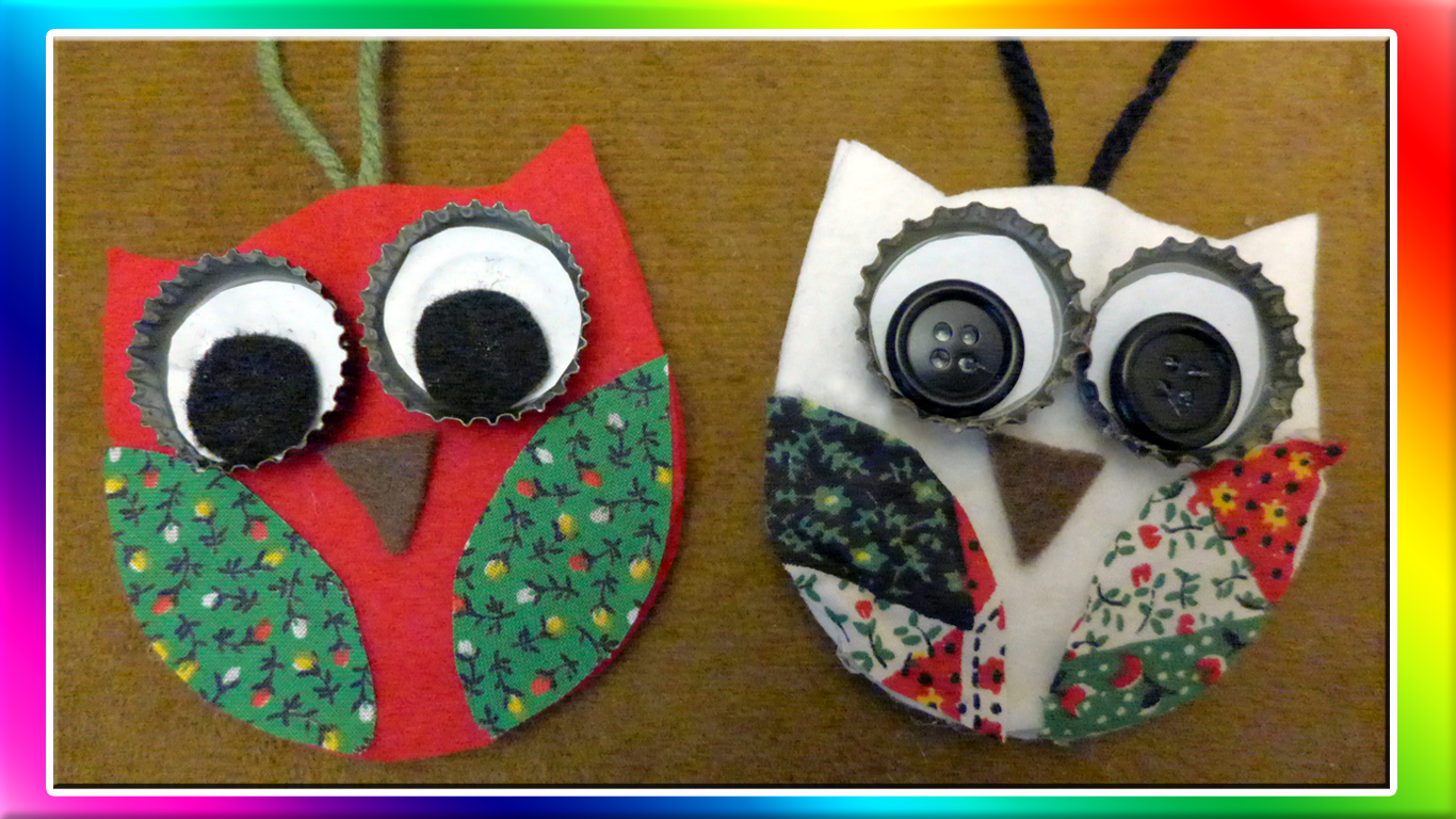 Easymeworld easy owl christmas ornaments for Easy crafts for christmas presents