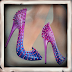 GARBAGGIO - STUDDED PUMPS PINK&BLUE / TFC HUNT