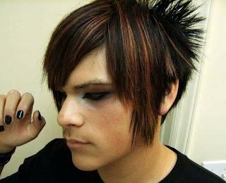 Model-model gaya rambut emo laki-laki dan gaya rambut emo perempuan