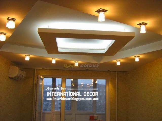 Modern Pop Ceiling Design With Spot Light For Living Room, Pop False  Ceiling Designs