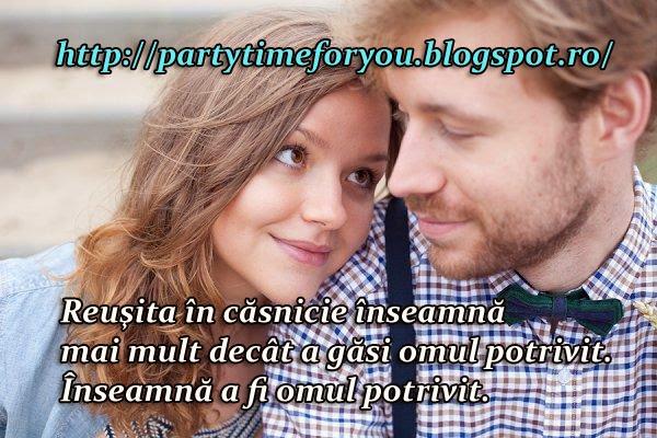 Reuşita în căsnicie înseamnă mai mult decât a găsi omul potrivit Înseamnă a fi omul potrivit