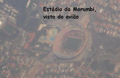 Estádio do Morumbi visto do avião