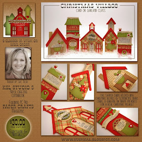Q's Creative Cards: Christmas Village