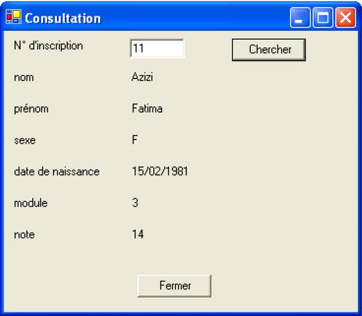 Examen de passage - Pratique - 2006 - JAVA - VB.NET - SQL SERVER Variante 4