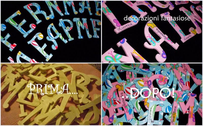 Decorazioni In Legno Per Bambini : Lettere in legno personalizzate perchè acquistare lettere