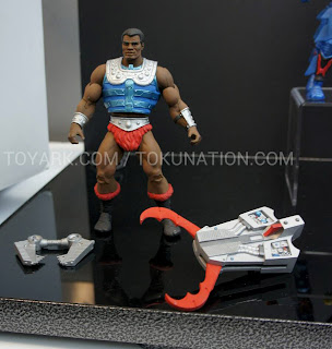 Mattel Matty Collector 2013 Toy Fair Display - Masters of the Universe MOTU Classics Clamp Champ figure