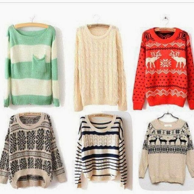 Stylish and colourful sweaters collection for fall wardrobe