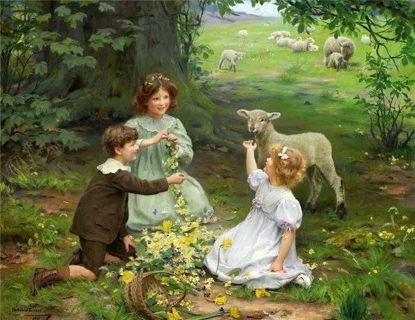 Art et glam: Arthur John Elsley, ses peintures d'enfants avec leurs animaux de compagnie