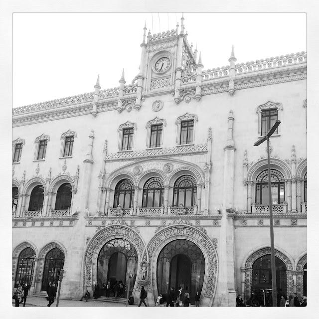 Rossio Station, train station Lisbon Portugal