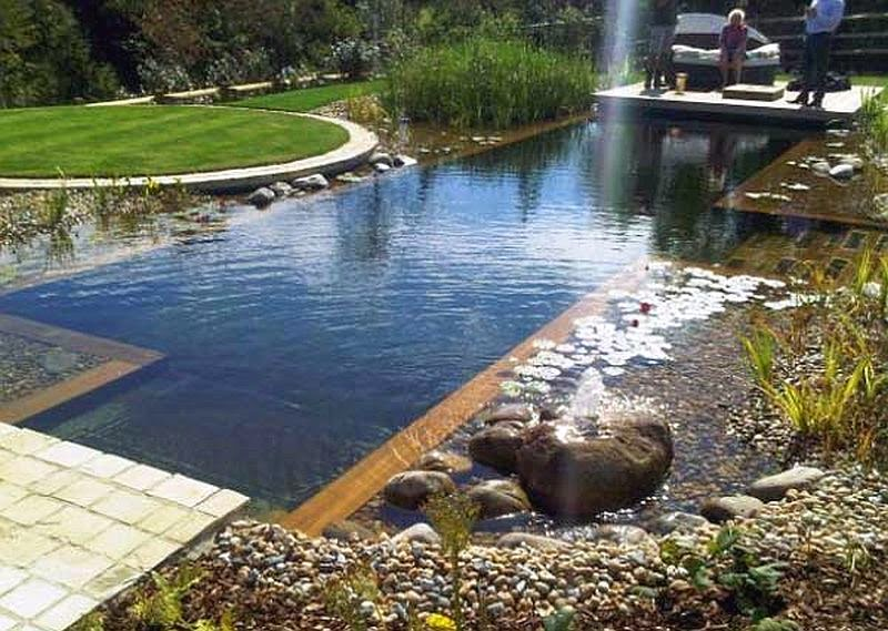 Garden With Natural Swimming Pools Ideas Italian Home